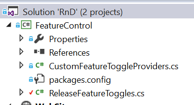 Feature Toggle class library in Visual Studio